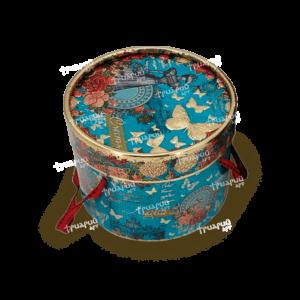 Упаковка для презентов туба «Элегия Весны» Средняя - голубая