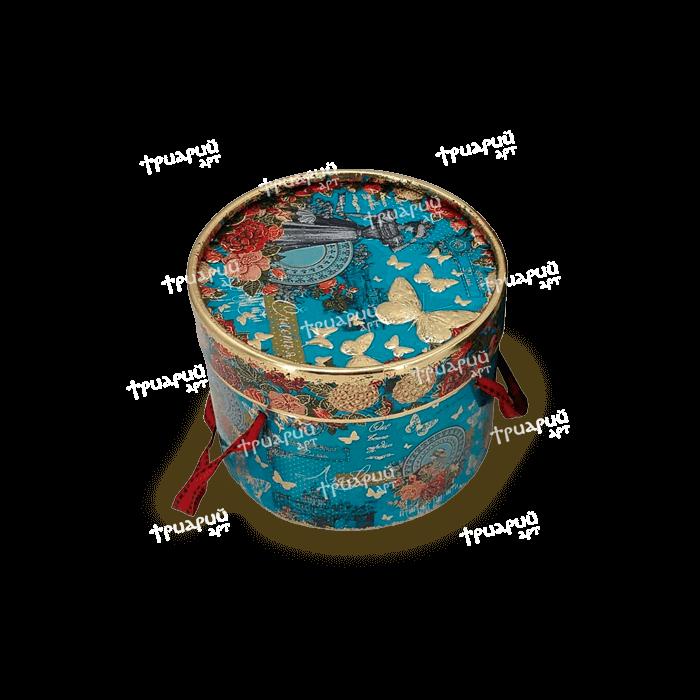 Упаковка для презентов туба «Элегия Весны» Маленькая - голубая