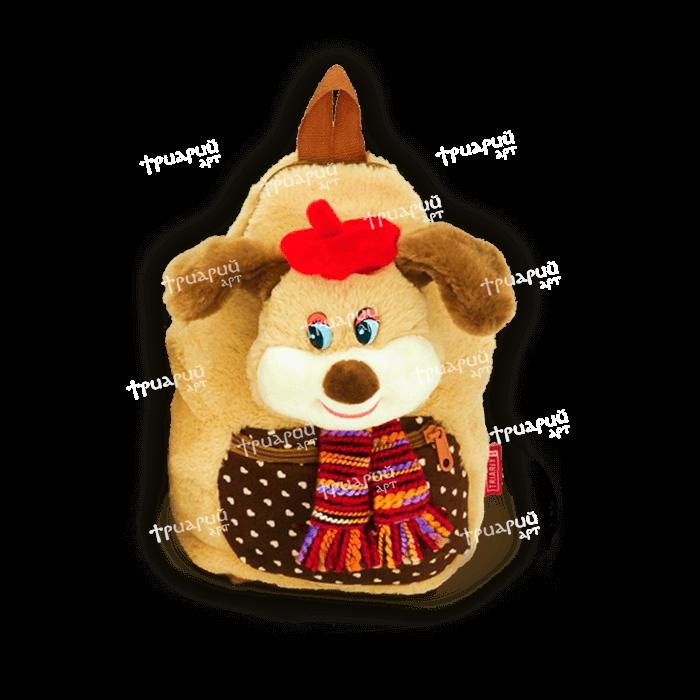 Мягкая игрушка-рюкзачок на молнии «Кокетка»