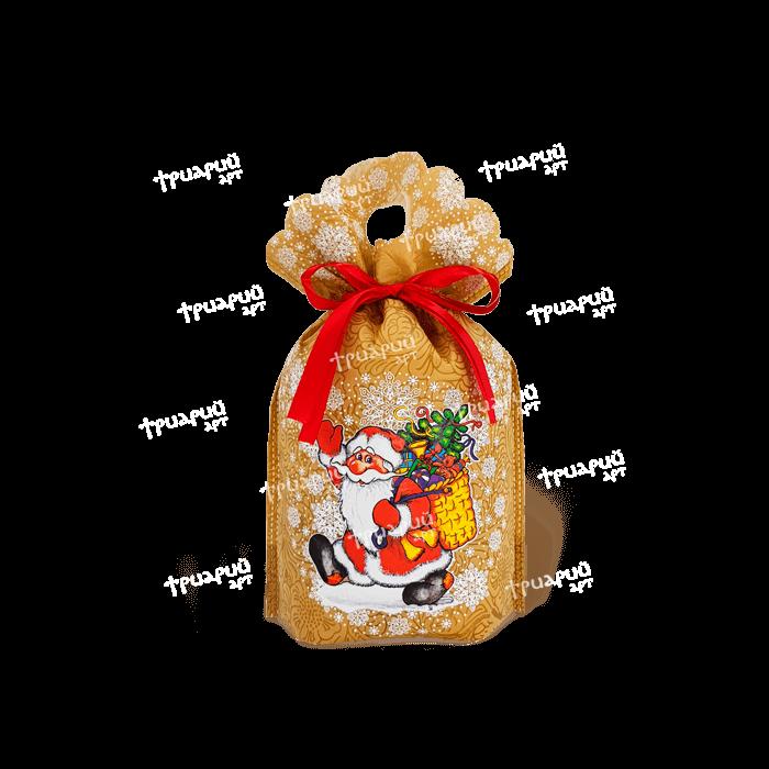 Новогодняя упаковка мешочек «Морозушко» - оранжевый