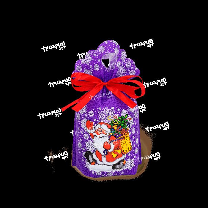 Новогодняя упаковка мешочек «Морозушко» - фиолетовый