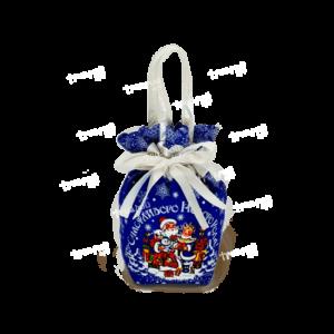 Новогодняя упаковка мешочек «С Праздником!» - синий