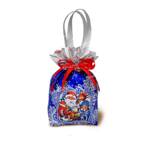 Новогодняя упаковка мешочек «Бельчонок» - синий
