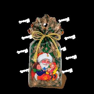 Новогодняя упаковка мешочек «В Гостях у Деда» - зелёный