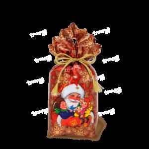 Новогодняя упаковка мешочек «В Гостях у Деда» - красный
