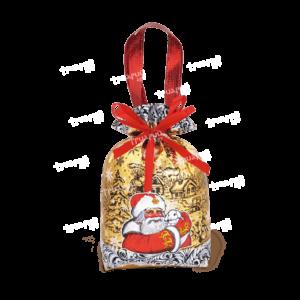Новогодняя упаковка мешочек «Зайчонок» - матовый