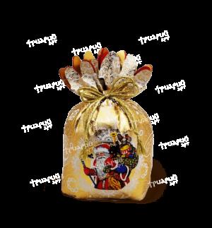 Новогодняя упаковка мешочек «Дед Мороз» - золотой