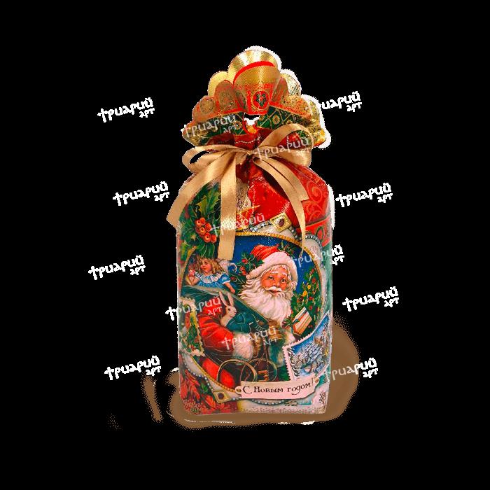 Новогодняя упаковка мешочек «Праздничный»