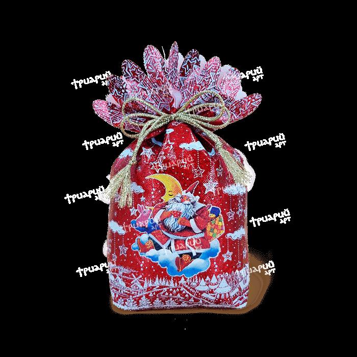 Новогодняя упаковка мешочек «На Облачке» - красный
