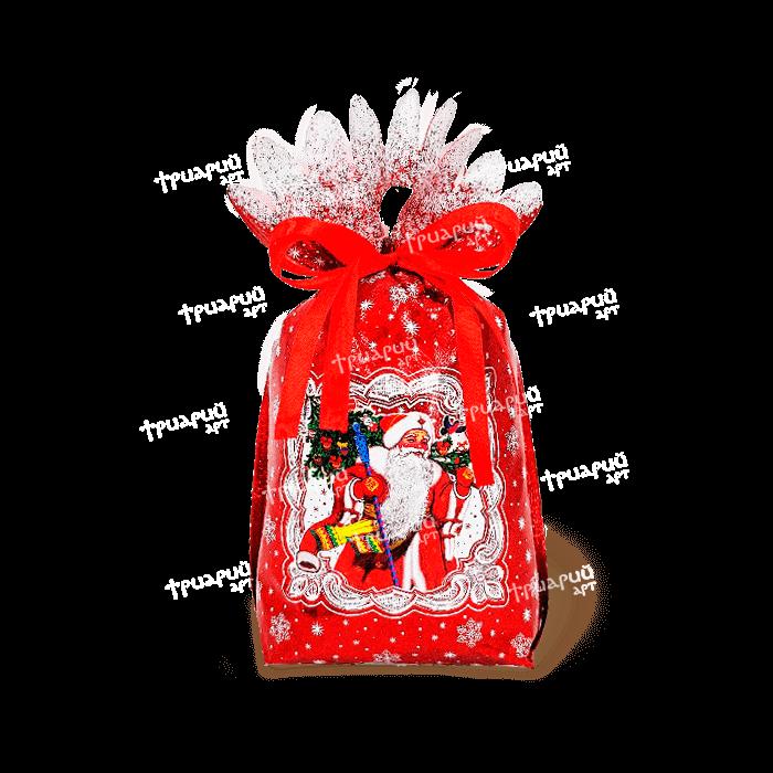 Новогодняя упаковка мешочек «Спешу Поздравить»