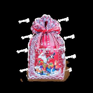 Новогодняя упаковка мешочек «Время Чудес» - красный