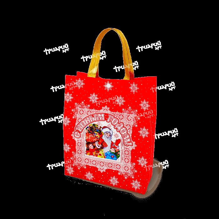 Сумочка на кнопке «Добрый Дедушка Мороз» - Красная