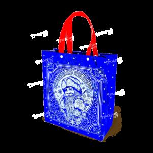 Сумочка на двух кнопках «С Подарками» - Синяя