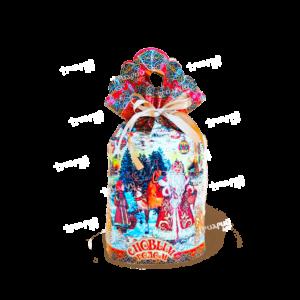 Новогодняя упаковка мешочек «Берестяной»