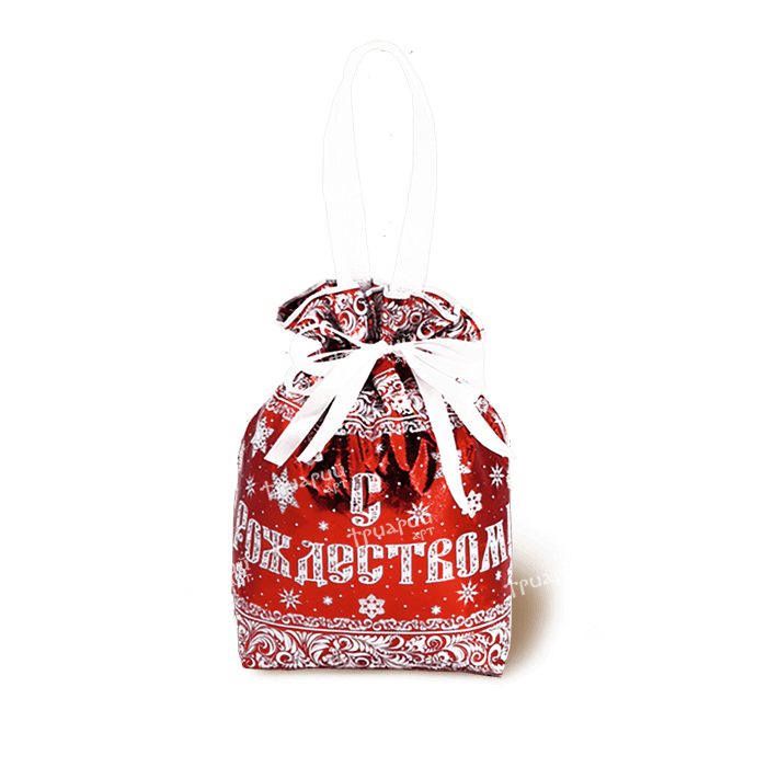 Новогодняя упаковка мешочек «От Деда Мороза» - красный