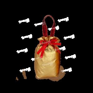 Новогодняя упаковка мешочек «Золотой»