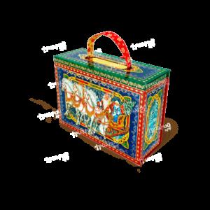 Новогодняя упаковка чемоданчик «Волшебная Тройка»