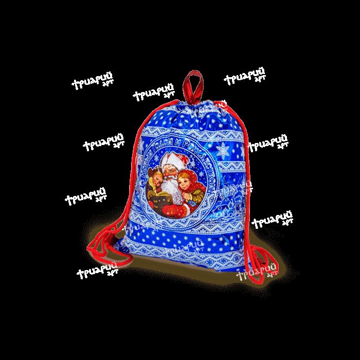 Рюкзачок из лессированного текстиля «Дедушкины Сказки» - синий