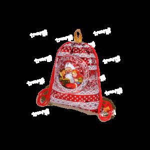 Рюкзачок из лессированного текстиля «Дедушкины Сказки» - красный