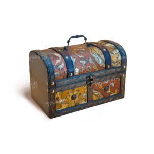 Новогодняя упаковка сундучок «Янтарный»
