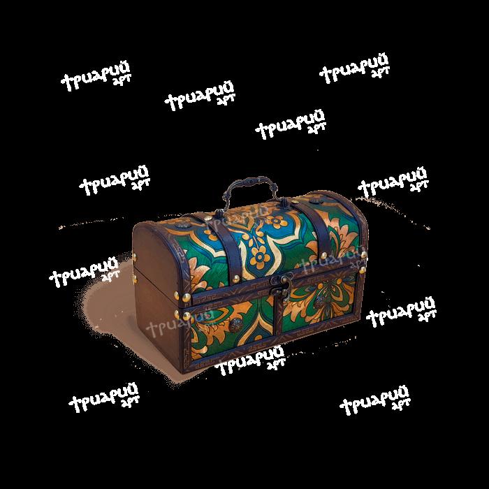 Новогодняя упаковка сундучок «Изумрудный» - Мини