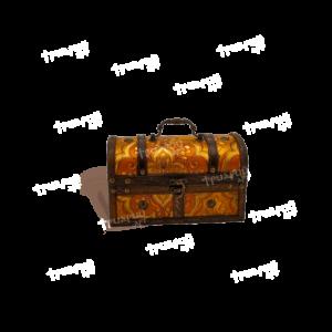 Новогодняя упаковка сундучок «Янтарный» - Мини
