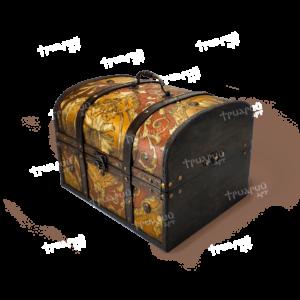 Новогодняя упаковка сундучок «Антик Дворцовый» - золотой - Большой