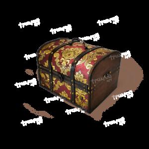 Новогодняя упаковка сундучок «Антик Дворцовый» - Бордовый - Средний