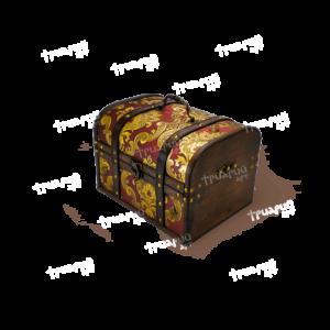 Новогодняя упаковка сундучок «Антик Дворцовый» - Бордовый - Маленький