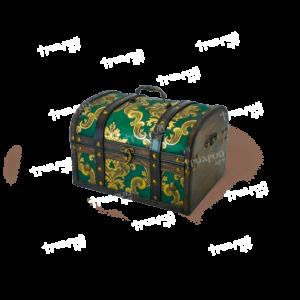 Новогодняя упаковка сундучок «Антик Дворцовый» - Зелёный - Маленький