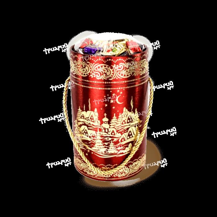 Новогодняя упаковка туба «Бордовый Шелк»