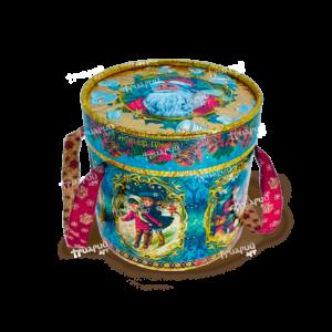 Новогодняя упаковка туба «Серебряные Колокольчики» Средняя