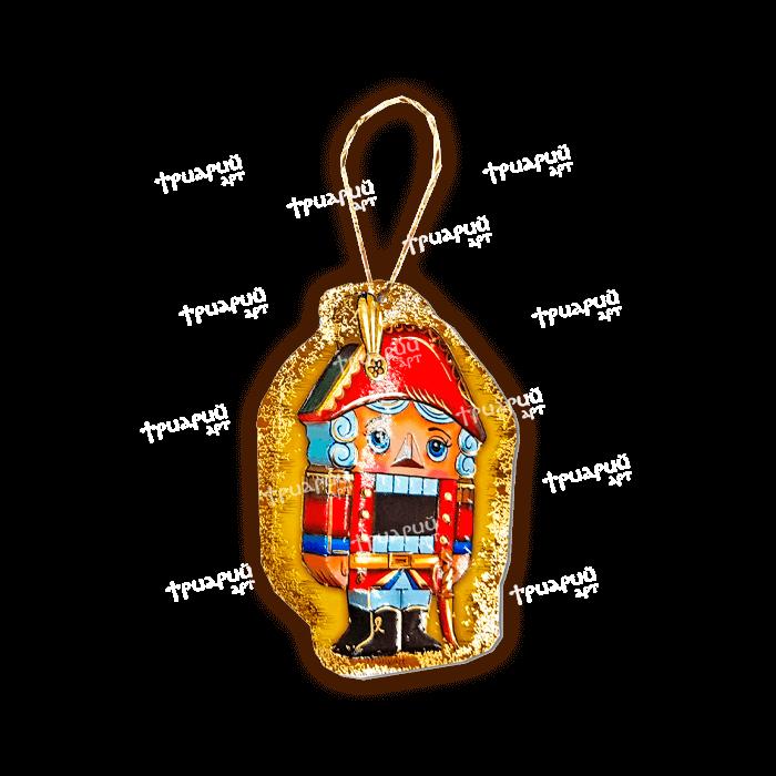 Картонная ёлочная игрушка «Щелкунчик»