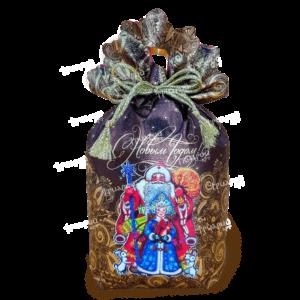 Новогодняя упаковка мешочек «Праздник пришел»