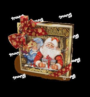 Новогодняя упаковка коробка «В Избушке» - маленькая
