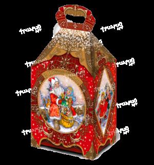 Новогодняя упаковка ларец «Сказка» - красный