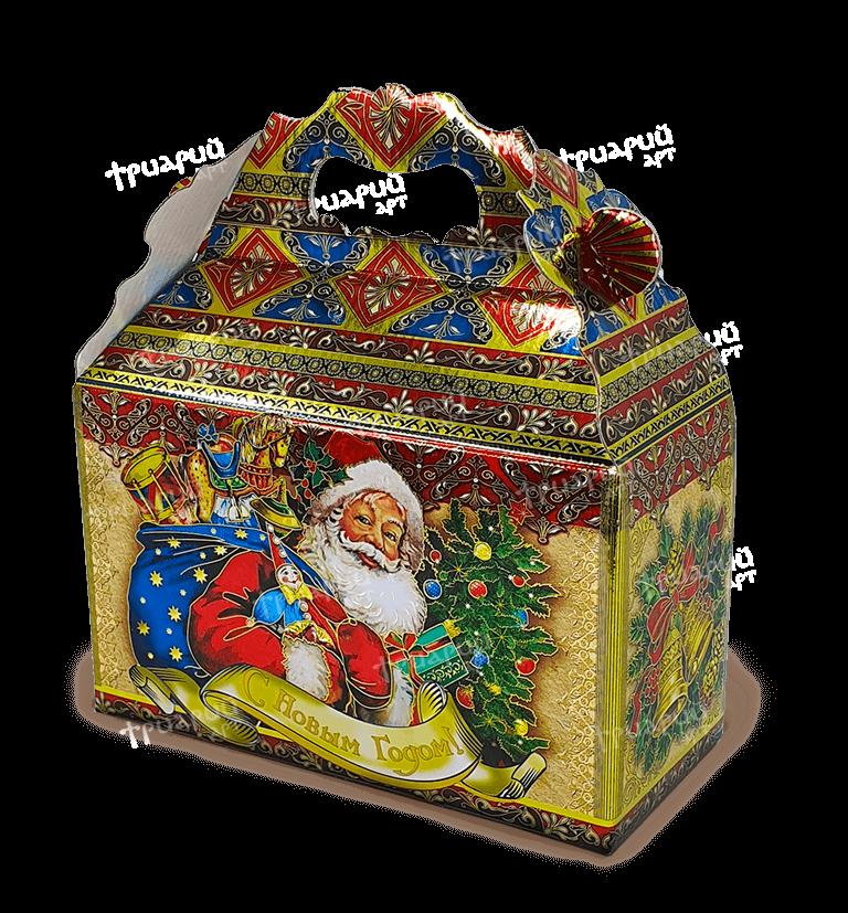 Новогодняя упаковка сундучок «Дарите Счастье!»