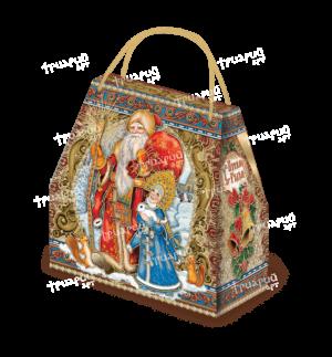 Новогодняя упаковка сумочка «Поздравляем!» - красная