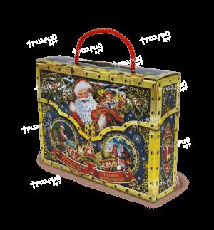 Новогодняя упаковка чемоданчик «Сюрприз» - синий