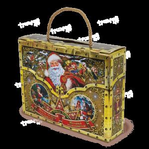 Новогодняя упаковка чемоданчик «Сюрприз» - золотой