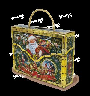 Новогодняя упаковка чемоданчик «Сюрприз» - зеленый