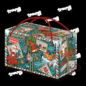 Новогодняя упаковка посылка «Кому-то очень хорошему…» - зеленый