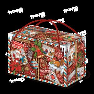 Новогодняя упаковка посылка «Кому-то очень хорошему…» - красный