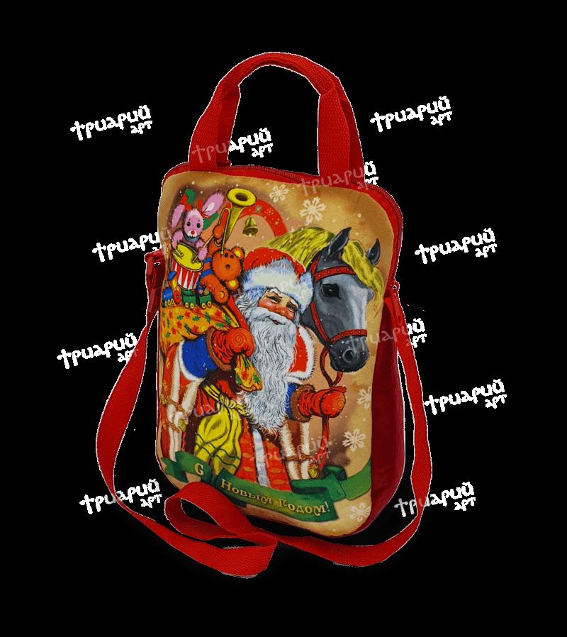 Новогодняя упаковка сумочка «На праздник к детям»