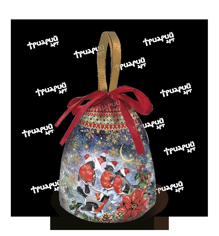 Новогодняя упаковка мешочек «Снежный»