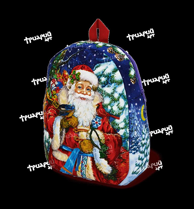 """Новогодняя упаковка рюкзачок """"Милый Дедушка Мороз"""" - большой"""