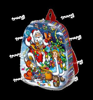 Новогодняя упаковка рюкзачок «Белочки-сестрички» - средний