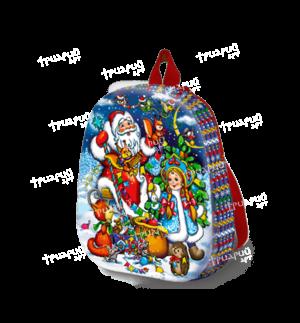 Новогодняя упаковка рюкзачок «Белочки-сестрички» - маленький