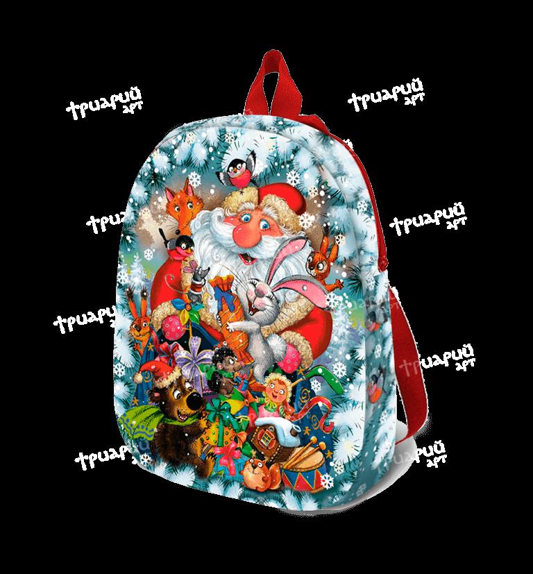 Новогодняя упаковка рюкзачок «С Друзьями» - средний