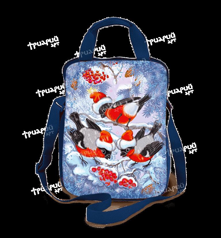 Новогодняя упаковка сумочка «Зимняя Рябина»